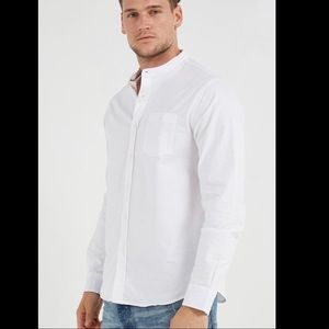 NWOT Boohoo Brave Soul Mandarin Collar Shirt